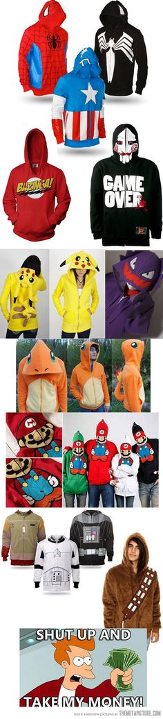I don't really want the Pokemon Mario or saw one but the rest are pretty awesome [ UpUrGame.com ] #gamer #fashion #gear