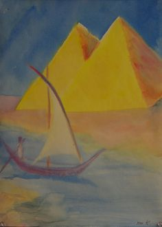 5th Grade: Painting; Egypt