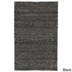 Kosas Home Calla Heathered Wool 8x10 Rug (Calla Heathered Black Wool 8x10 Rug), Size 8' x 10'