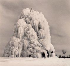 Frozen Fountain, Belle Isle, Detroit, Michigan, 1994. Michael Kenna. Toned gelatin silver