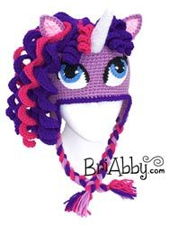 Crochet Unicorn Outfit : Crochet pony / unicorn hat. If your daughter loves ponies or unicorns ...