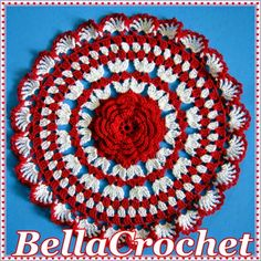 BellaCrochet: Ruby's Valentine Doily: A Free Crochet Pattern For You