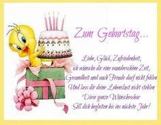 Zum Geburtstag... Liebe, Glück, Zufriedenheit, ich wünsche dir eine wunderschöne Zeit