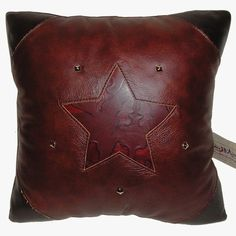 great leather pillow