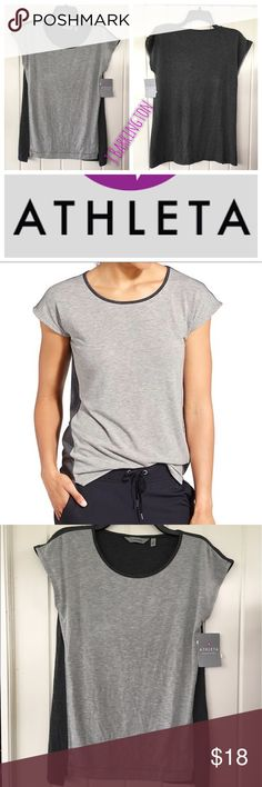 Athleta Crossroads Tee Size XS NWT With super-soft fabric and a relaxed fit, this cap sleeve tee is made for life on the go. INSPIRED FOR: adventure To Fro Mini cap sleeves offer shoulder coverage Step hem for more coverage in back  Relaxed fit Fits loose throughout Size XS New with Tags Tops