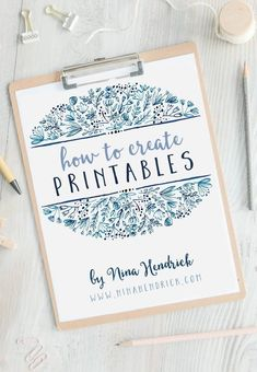 How to Create Printables to Grow Your Blog | Learn how to create beautiful printables step-by-step to help you grow your blog and business. #business #blogging #tips #printables