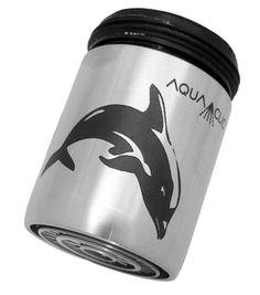 Spart bis zu 50% Wasser und Energie am Wasserhahn: AquaClic INOX Flipper aus Edelstahl. Gesehen für € 21,95 bei kloundco.de.