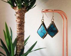 #Etsy #cadeau #idée #Noël #Handmade #Oriental #Bohemian #Bijoux #Earrings #Fashion #Turquoise