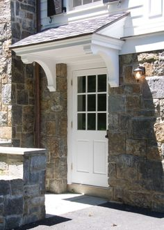 Door Canopies Canopy Designs From Garden Requisites. Series Door Canopy With Rain Channel. Home and furniture ideas is here Porch Roof, Side Porch, Side Door, House With Porch, House Front, Back Doors, Entry Doors, Entrance, Front Entry