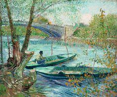 Vincent van Gogh - Fischen im Frühling, die Brücke von Clichy (Asnières)