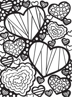 try to carve rubber stamp hearts like these abstract doodles free valentine images to color fifth grade freebies coloring pages - Valentine Coloring Sheet