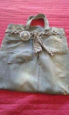 Borsa da shopping jeans Baylepreziose  (fai da te)