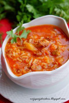 Soup Recipes, Dinner Recipes, Cooking Recipes, Recipies, Healthy Dishes, Healthy Recipes, Vegan Junk Food, Vegetarian Cabbage, Good Food