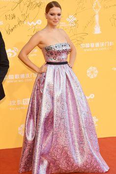 Beijing International Film Festival, Beijing - April 16 2014  Léa Seydoux in a Miu Miu gown.