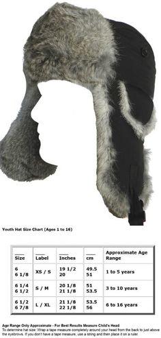 8689c9ea6aa Klondike Sterling Youth Genuine Rabbit Fur Trooper (Black