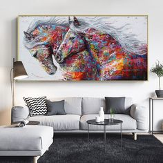 Animal Art Two Running Horses Canvas Painting Wall Art Pictures For Living Room Modern Abstract Art Prints Posters Living Room Pictures, Wall Art Pictures, Animal Pictures, Home Wall Decor, Art Decor, Decor Room, Canvas Wall Art, Wall Art Prints, Horse Canvas Painting