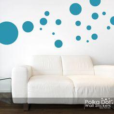 Assortiment de taille autoadhésive par PolkaDotWallStickers sur Etsy, $8.98
