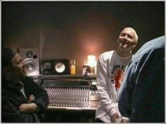 Eminem he actually smiling !!