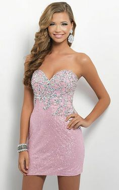 Strapless Blush C124 Jeweled Tight Short Cocktail Dress 2013 [Blush C124 Jeweled Tight Short Dress] - $138.00 : Prom Dresses - La Femme dresses Night Moves dresses Online Sale