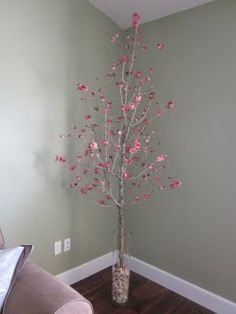DIY faux blossoming cherry or some big corner piece for the bedroom