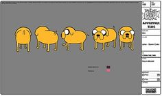 Art Team GO!: ADVENTURE TIME CH MODEL SHEETS. Jake.