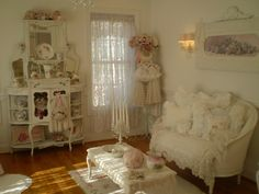 @Beatrice Banks #pink and white romantic home cottage decor