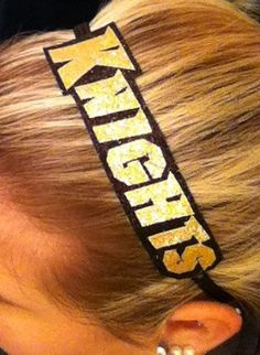UCF Knights headband! cute! I want!  #Go Knights #CollegeColorsDay @collegecolors