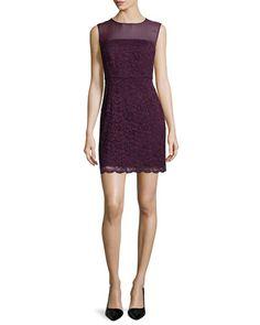 DIANE VON FURSTENBERG Diane Von Furstenberg Nisha Sleeveless Lace Dress, Purple. #dianevonfurstenberg #cloth #