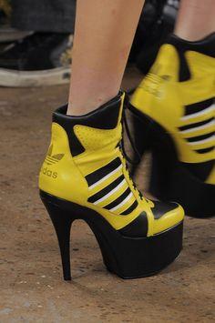 Jeremy Scott Fall 2013 - Details #Adidas #heels #sneakers