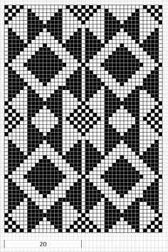 Billedresultat for tapestry crochet patrones Tapestry Crochet Patterns, Fair Isle Knitting Patterns, Crochet Motifs, Knitting Charts, Weaving Patterns, Crochet Chart, Bag Crochet, Crochet Gratis, Free Crochet
