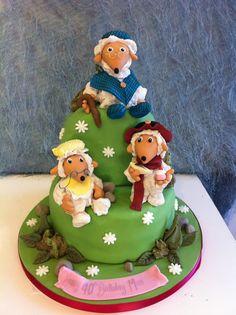 wombles Dad Cake, 50th Cake, Mini Cakes, Cupcake Cakes, Cupcakes, Beautiful Cakes, Amazing Cakes, White Cakes, Cake Board