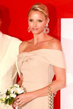 Princess Charlene...I wish there were more pictures of her alone, eliminating Albert in the picture....