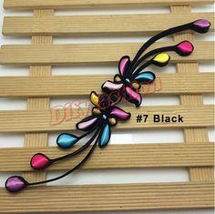 colored cheongsam phoenix tail silk satin knot by Diysuppliers