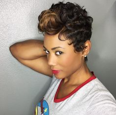Cute cut and color by @khimandi - http://community.blackhairinformation.com/hairstyle-gallery/short-haircuts/cute-cut-color-khimandi/