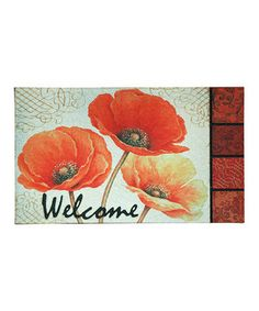 Make a cheery first impression for anyone who enters with this friendly doormat. No-slip recycled rubber construction and a darling print will make guests feel welcome even before they come through the front door!