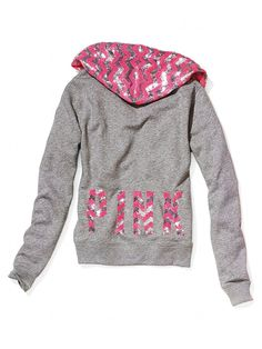 VS PINK Bling Perfect Zip Hoodie
