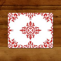 Placemat Damask Red, 16€, now featured on Fab.