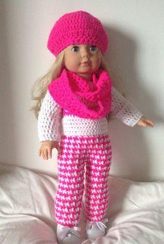 Crochet pattern pdf for 18 inch doll American Girl by petitedolls