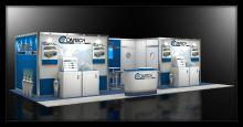 Custom modular 20x20 exhibit design.
