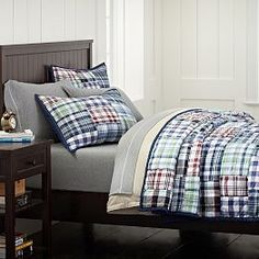 Boys' Quilts, Boys' Bedding Quilts & Sports Quilts | PBteen (mariner madras)