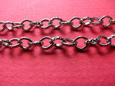 3.28 Feet 1 meter  5x4.5 mm Silver Tone Textured http://etsy.me/1MzBZdQ #jewelry #ring #mount #brass #gem #bezel #setting #bead