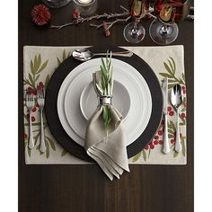 Evans Wood Charger Plate   Crate and Barrel