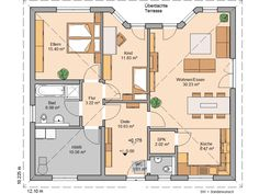 Bungalow Flair von Kern-Haus | Barrierefrei und stufenlos Bungalows, Tiny Living, Living Room, 100 M2, House Plans, Sweet Home, Floor Plans, Cottage, Exterior