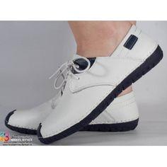 pantofi albi din piele naturala dama/dame/femei (cod 15-12268)