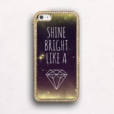 Bling iPhone case Gold iPhone case Diamonds iPhone by CaseOddity, $17.49