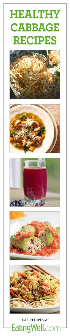 Slaws, soups, smoothies and more healthy cabbage recipes.