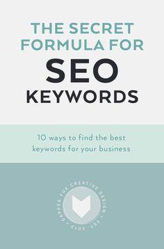 The Secret Formula for SEO Keywords - 10 Ways To Find The Best Keywords For…