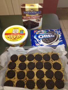 Oreo Cookie Dough Brownies    #dessert #kitk #katherineinthekitchen