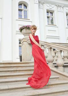 Malinowa Suknia - MODDI - MODDI-PL - Suknie wieczorowe