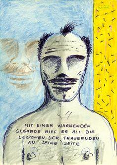 All die Legionen der Trauernden (All the Legions of Mourners), 1987 by J.G.Wind - Illustration zu J.G.Ballard's Liebe + Napalm = Export USA  (The Atrocity Exhibition)